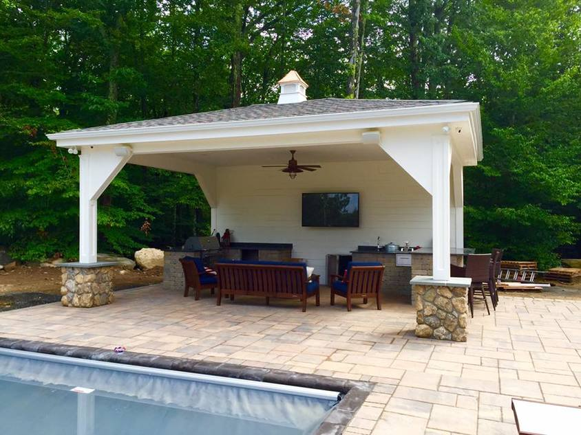 Pool Houses And Patios Guilford Ct Heritage Home