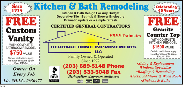 NORWALK CT Bathroom Remodeling HERITAGE HOME IMPROVEMENTS - Bathroom remodeling norwalk ct