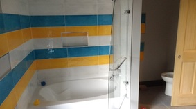 A new Bath Remodel with Custom Tile Job