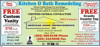 Bathroom Remodeling Contractor Ct HERITAGE HOME IMPROVEMENTS - Bathroom remodeling norwalk ct